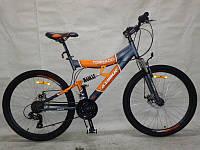 Горный подростковый велосипед 24 дюйма Azimut Tornado 149-G-FR/D-1 серо-оранжевый,21 скорость
