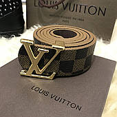 Belt Louis Vutton Initiales 40MM Silver Damier Ebene (реплика)