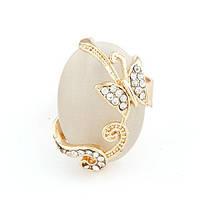 Кольцо Бабочка с камнем K001074