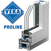 Окно Века Veka Proline 70 1350\1420мм со створкой