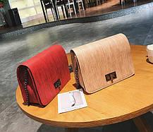 Стильная матовая сумка клатч на цепочке, фото 3