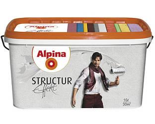 Краска структурная ALPINA EFFEKT STRUCTUR интерьерная, 10л