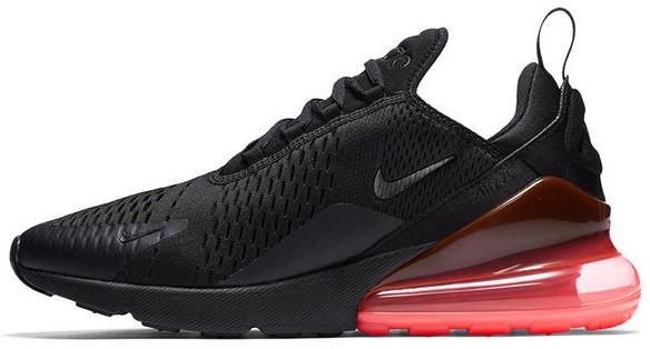 Мужские кроссовки NikeAir Max 270 (Найк Аир Макс) черно-красные