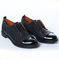 Туфли черные резинка / лак
