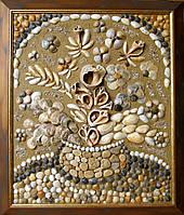 """Картина Мозаика из природных материалов""""Морской букет"""""""