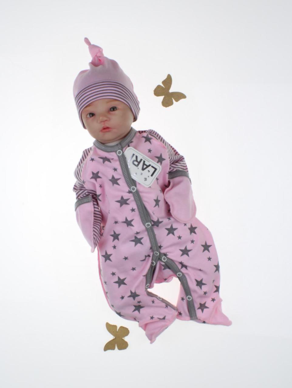 """Детский комбинезон """"Звездопад"""", розовый с принтом"""