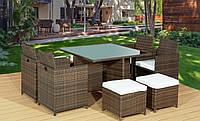 Садовая мебель из техноротанга Bello Gardino CRISTALLO 4+1+2 пуфа
