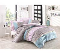 Хлопковый комплект постельного белья ЕВРО размера Cotton Box JAYLA LILA CB03