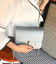 Элегантная матовая сумка клатч на цепочке, фото 3