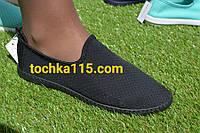 Летские  женские слипоны черные сетка, фото 1