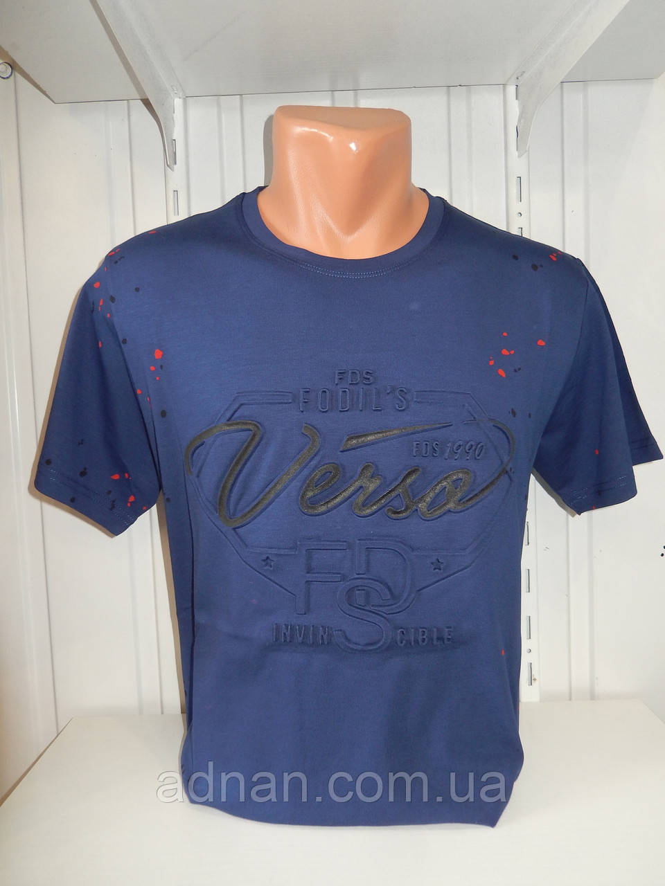 Футболка мужская FODILS  стрейч коттон, 3D 004\ купить футболку мужскую оптом