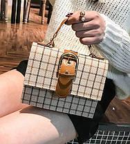 Твердая тканевая сумка сундук с пряжкой, фото 2