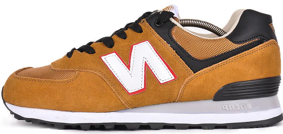 Мужские кроссовки New Balance 574 (Нью Баланс) коричневые