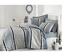 Хлопковый комплект постельного белья ЕВРО размера Cotton Box RIHANNA MINT CB03