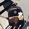 Шикарний вельветовий рюкзак з пензликами і брелком мишком, фото 3