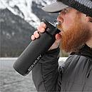 Термокружка с крышкой Stanley Mountain Switchback Matte (0.3л), черная, фото 3