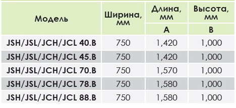 схема установки и габаритные размеры противотока Kripsol JSL 70 (III)