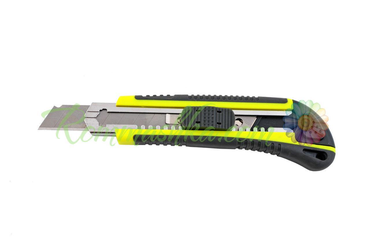 Нож Housetools - 18 мм, автозамок + 3 лезвия