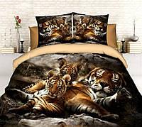 3D Полуторное постельное белье Sofia - Тигры