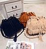 Стильная женская сумка под замшу с бахромой, фото 5