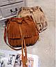 Стильная женская сумка под замшу с бахромой, фото 4