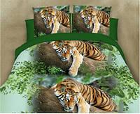 3D Постільна білизна двоспальне Sofia - Тигр