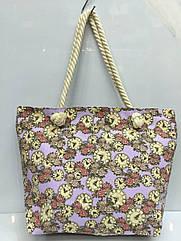 Пляжная сумка на канатных ручках