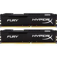 Модуль памяти для компьютера DDR4 8GB (2x4GB) 2400 MHz Fury Black Kingston (HX424C15FBK2/8)