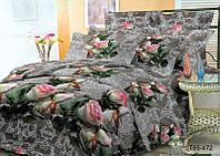 3D Двоспальне постільна білизна Sofia - Троянда
