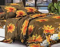 3D Двоспальне постільна білизна Sofia коричневе