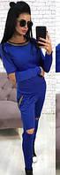 Женский костюм с порезами  аан1115, фото 1