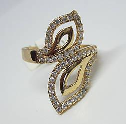 Кольцо XP Листья в камнях, размер 16, 17, 18, 19