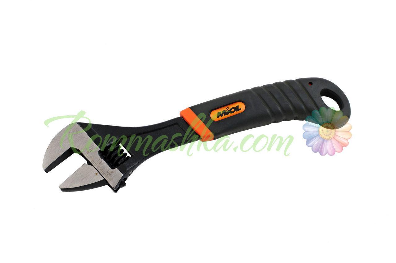 Ключ разводной Miol - 300 мм (0-35 мм), оранжевая ручка