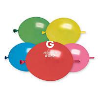"""Воздушные шары для моделирования ассорти металлик tet-a-tet линколун  6"""" (16 см) .ТМ Gemar"""