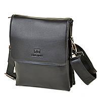 Мужская сумка-планшет Bretton из натуральной кожи черная, фото 1