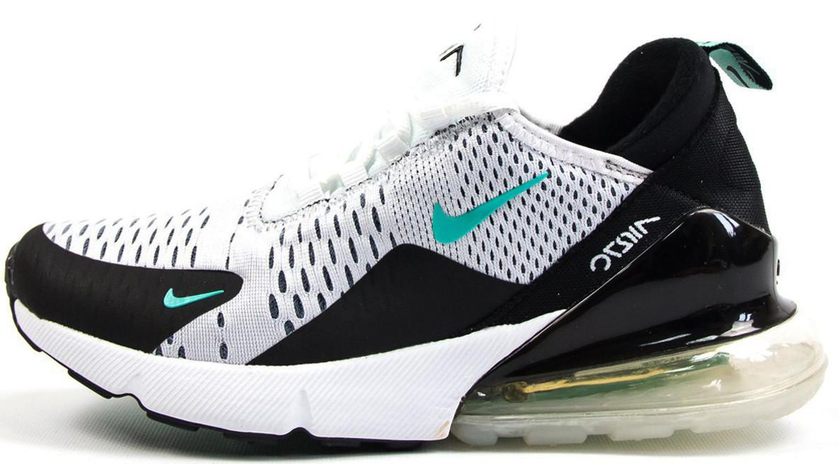 c299bb75 Женские кроссовки Nike Air Max 270 (Найк Аир Макс) черно-белые, цена ...