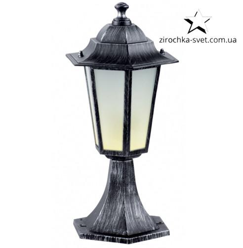 Светильник садово-парковый DELUX PALACE A04 E27 черный серебро