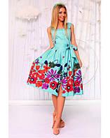 Платье ментоловое