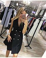 Платье жилет черного цвета