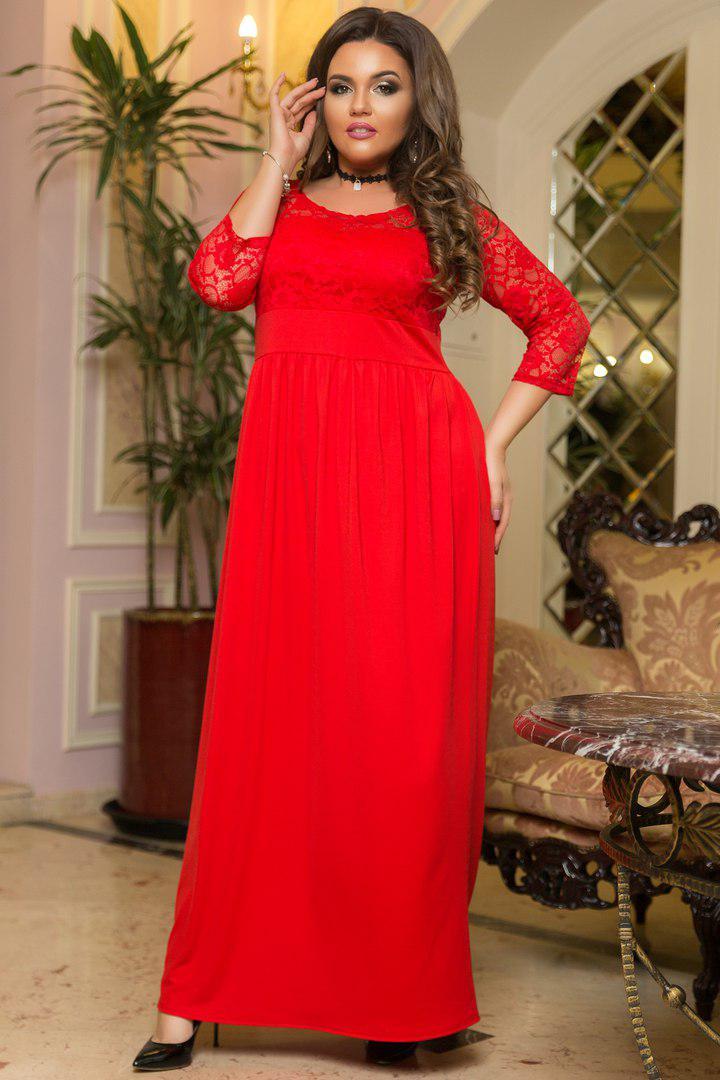ad9a4dcc05c Коктейльное платье с гипюром. Красное