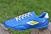 Сороконожки, бампы, кроссовки для футбола синие прошитый носок еластичные, легкие (Код: Б1135)