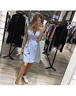 Платье жилет голубого цвета