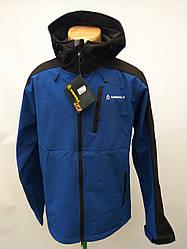 Куртка весенняя лыжная в стиле Volki сине-черная