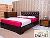 Двуспальная кровать «Милена» с мягкой спинкой прошивка ромбы , фото 2