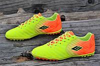 Подростковые сороконожки, бампы, кроссовки для футбола желтые оранжевые легкие (Код: М1136а)