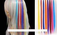 Накладные цветные пряди на волосы омбре (цвета в ассортименте) 50 см