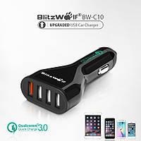 Автомобильное зарядное устройство АЗУ Blitzwolf QC3.0 быстрая зарядка 4USB разъема
