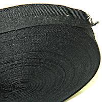 2 см Киперная лента (синтетическая, черная) - 50м.