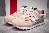 Кроссовки женские New Balance 574, розовые (реплика)