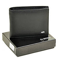 Мужской кошелек с зажимом из натуральной кожи Dr. Bond Classic. Кожаный кошелек - зажим. Черный и коричневый., фото 1